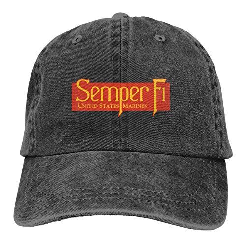 Casquette Trucker Casquette Baseball Denim Dad Hat Semper Fi US Marine