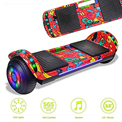 DOC Latest Model Electric Hoverboard Dual Motors Two Wheels Smart self Balancing Scooter with Built in Speaker LED Lights for Gift