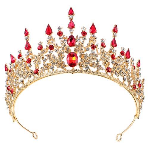 Minkissy Tiara de Novia Tiara de Piedras Preciosas de Cristal Brillantes Tiara...