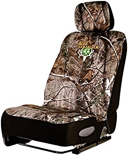 Bone Collector Lowback Neoprene Seat Cover, Single, Low Back, Brown/Realtree AP Camo