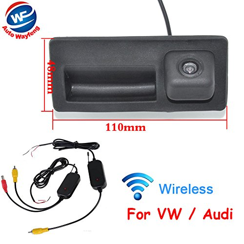 Auto Wayfeng WF® Drahtlose Rückfahrkamera HD CCD Wireless Auto HINTERE Ansicht Backup Kamera FÜR Passat B5 / B6 (MAGOTAN) / Cross LAVID/Shara/TIGUAN/TOUREG/Golf Sedan/Cross Golf/SAGITAR