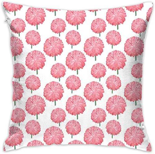 balaclava Home Decor - Funda de cojín con diseño de flores de crisantemo, estilo botánico, para el crecimiento natural romántico, cuadrada, 18 x 18 cm