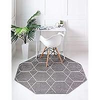 Unique Loom Trellis Frieze Collection Geometric Modern Runner Rug