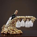 NYSJLONG Estante de Vino Estante de Vino Decoración de Copa de Vino Sala de Estar Mesa de Centro TV Gabinete de Vino Accesorios Muebles Práctico