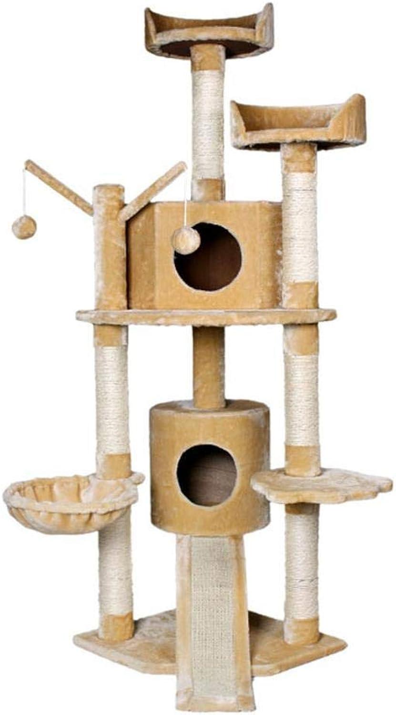 Hexiansheng Cat Climb Trees Pet Products Processing Cat tree 49  49  160cm