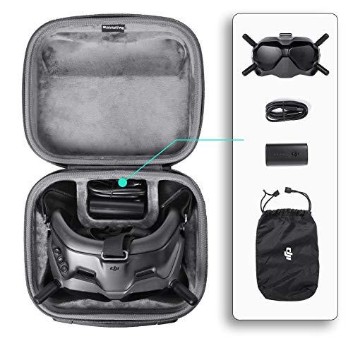 DJFEI Koffer für DJI FPV Goggles V2 Glasses, Wasserdichter Tragetasche für DJI FPV Drohne Zubehör, FPV Combo Drone Goggles Handtasche