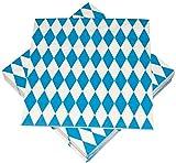 Heku Party Dekoration Bayrisch Blau Servietten (20Stück), 33 x 33 cm
