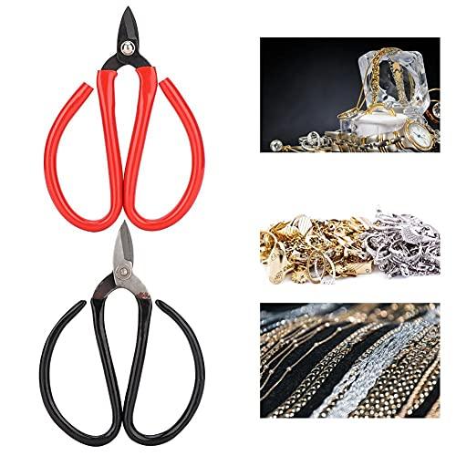 tijeras de joyería, tijeras portátiles herramienta de corte de joyería, bricolaje casero hecho a mano, herramienta de fabricación de joyas, kits de fabricación de joyas, tejido de cuentas y fabricaci