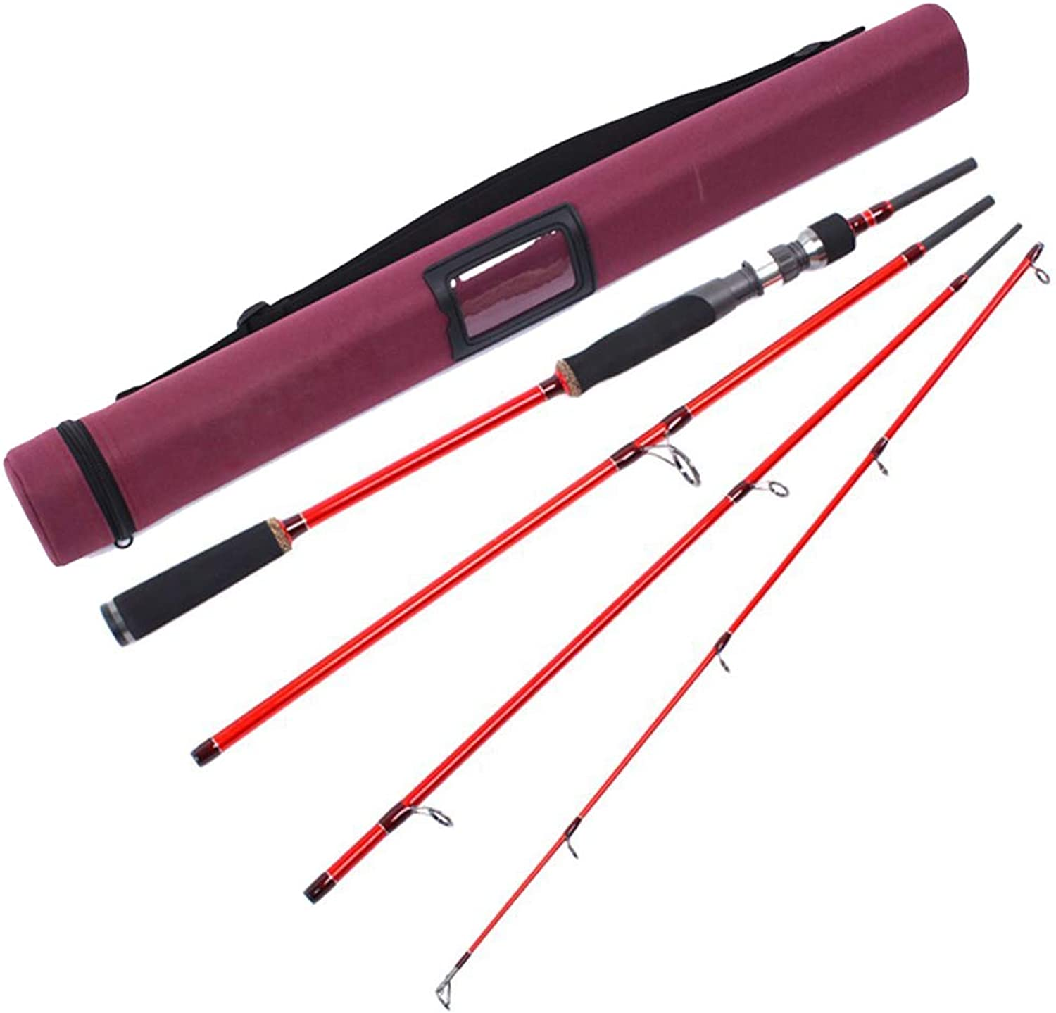 Rough Fish Series Aventik spinning rod Travel rod High Module Carbon IM8 4 Pieces Spinning Rod 7ft (2.1m) 812Ib Medium Heavy MH Line Weight Fast Action Light Weight Compact With Cordura Rod Tube