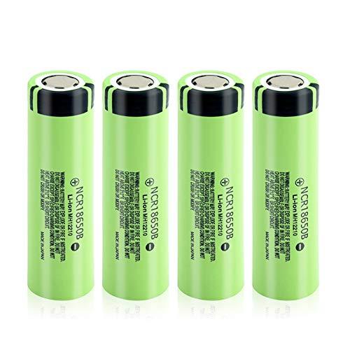 CNMMGL Batería De Litio De 3.7v 3400mah 18650, Descarga 20a De La Batería Recargable para Las BateríAs De La Linterna 4Pcs