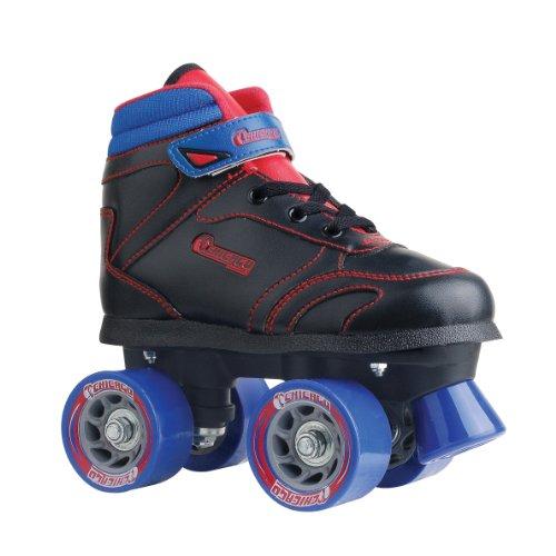 Product Image of the Chicago Boys Sidewalk Roller Skate - Black Youth Quad Skates - Size 3