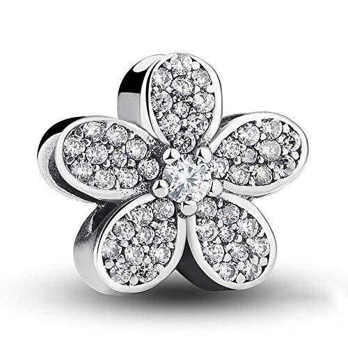 ZSCZQ New white heart Daisy Life Tree Dog paw coffee cup Beads fit Original Charms Silver 925 Bracelet DIY Women Jewelry B092