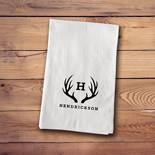 Tea Towels - Personalized - Antler
