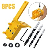 8pcs Profesional Doweling Hole Saw Tools Handheld Durable Self Centering Woodworking Jig Set