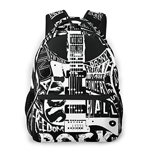 Popsastaresa Mochila para adolescentes, hombres, mujeres, paquete de almacenamiento,Póster Hard Rock Music, Mochila para portátil de viaje para estudiantes de escuela informal de negocios