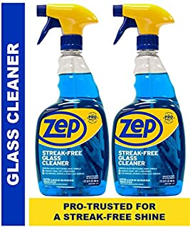 Zep Streak-Free Glass Cleaner 32 Ounces (Pack of 2) - Amazing Value for a Streak Free Shine!
