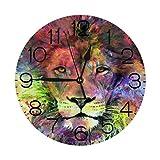丸い壁時計滞在賢いリトルフォックス非カチカチ音を立てるサイレントアート時計家のバッテリー式の装飾