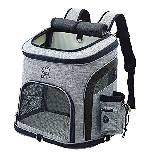 Tineer Huisdier van de Hond Rugzak, Hondendraagtas tas met Mesh voor Medium grote honden Katten, Puppy Backpack Carrier draagbare reistas voor wandelen, reizen Outdoor (L, Upgrade zwart)