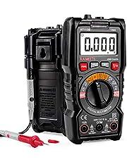 KAIWEETS Digitale multimeter, stroommeter Auto Ranging True RMS 4000 Counts, meting van AC/DC-spanning, stroom, weerstand, diode, continuïteitstest, batterijaandrijftester voor thuis, auto enz.