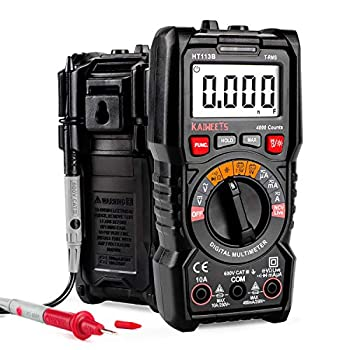 KAIWEETS Digital Multimeter Auto-Ranging meter TRMS 4000 Counts Meter Voltage Tester Voltmeter Continuity Measures 1.5v/9v Battery Tester Capacitance Measure with NCV Function