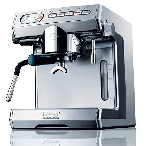 CGOLDENWALL KD-270S - Máquina de café de doble bomba de café de estilo italiano para hacer café expreso, cafetera de...