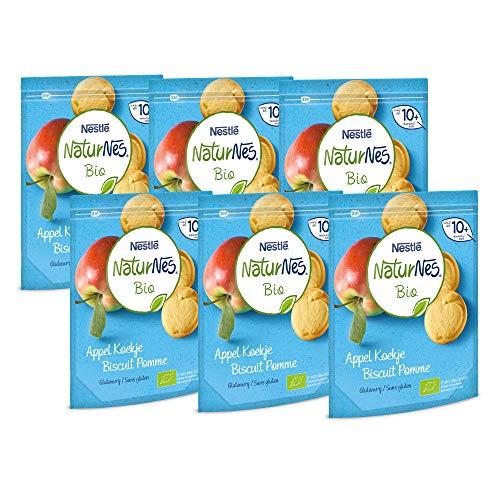 NaturNes Bio Appel koekje 10+ maanden - 6 hersluitbare zakken van 150 gram