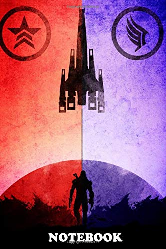 Notebook: Red And Blue Mass Effect , Journal for Writing, College Ruled Size 6' x 9', 110 Pages