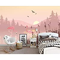 xueshao カスタムサイズ3D壁壁画リビングルーム現代のピンクの風景フラミンゴ写真壁画壁紙-400X280Cm
