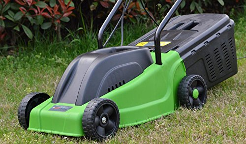 Allied UK ToolTronix Electric Rotary Lawnmower with 1000w Turbo Drive Motor 30 cm Steel Blade, Air-Lift Grass Collection…