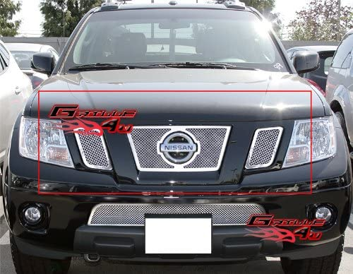 APS Compatible with Bargain sale 2009-2021 Frontier Grille Mesh Ins Stainless Max 43% OFF