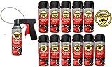 woolwax 12 Spray Can Undercoating Kit Black
