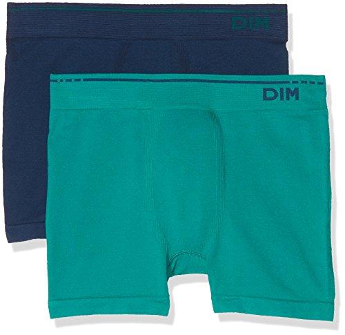 Unno DIM Basic Herren Boxershorts, 2er Pack, Blau (Azul 5WK), Large (Herstellergröße: Large)