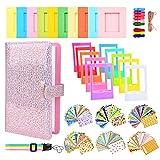 Sunmns Accessories Bundle Kit Set for Fujifilm Instax Mini 11 9 8 90 70 Films, Accessory Include Album, Film Stickers, Desk Frames, Hanging Frame, Strap (Shining Pink)