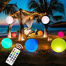 LED Beach Ball,Pool Toys 16 Colors Glow Ball 16'' Inflatable LED Floating Pool Light with Remote,Great for Beach Wedding P...
