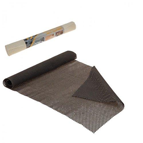Anti Rutsch Matte creme grau rutschmatte Teppich Gummimatte , Farbe:Grau