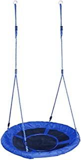 Gym Kingdom Swing Children's Swings Oxford Cloth Bird's Nest Swings Indoor Outdoor Garden Swings Children's Portable Chairs Cradle Lanyard Swings (Color : Blue, Size : 39.37 * 39.37inchs)