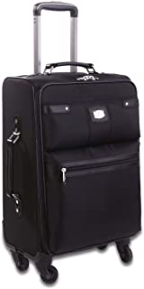 NEW RIONI MANHATTAN SOLID BLACK CARRY ON LUGGAGE BM2O121S
