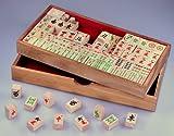 LOGOPLAY Mayong - Mahjong - Mah Jongg - Mahjongg - Legespiel - Strategiespiel aus Holz mit 144 Spielsteinen - 2. Wahl -