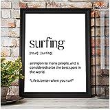 Surf Art Poster Surfen Definition Zitat Print Surfer