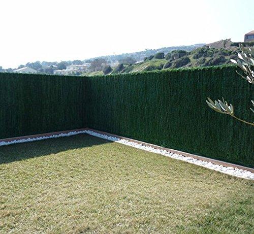 PEGANE Haie Artificielle Ultra 126 brins en PVC Coloris Vert foncé (Sapin), 1,20 m x 3 m