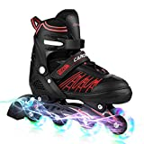 Kids Rollerblades Suitable for Adults,Fun Flashing Rollerblades Boys,Adjustable Rollerblades Girls Light up Wheels,Inline Skates Skating Shoe Skates for Women,Children Roller Blades/ Skates Men