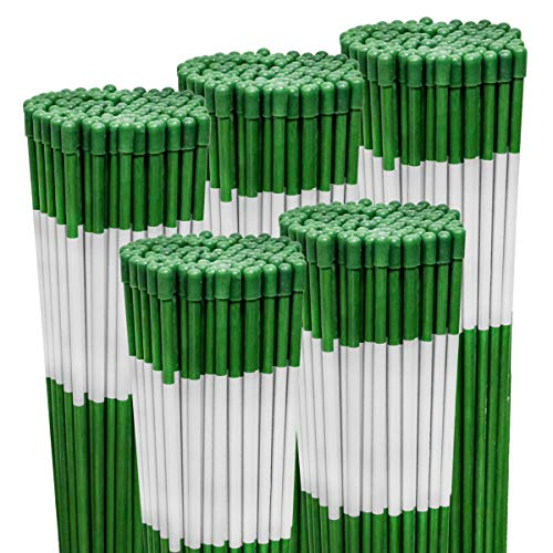 Find Bargain 500PK 48 Long Reflective Driveway Markers Snow Stakes Green 5/16