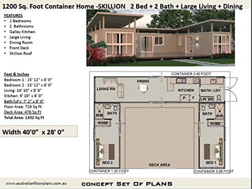 Amazon Com Shipping Container Home Concept Plans 3 Shipping Containers Combined To Create A Beautiful 2 Bedroom Home Concept Plan Includes Detailed Floor Plan And Elevation Plans Ebook Morris Chris Designs Australian Kindle