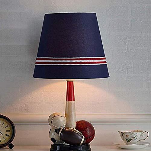 Tischlampe Schlafzimmer Nachttischlampe Kinderzimmer Dimmbar Junge Kreatives Zuhause Warmes Licht Fernbedienung Nachttischlampeeinfaches Modernes Blau,Tablelamp