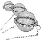 Lyxa SR 3 Pack Piece Set Stainless Steel Mesh Tea Ball Tea Infuser Strainers Tea Strainer Filters...