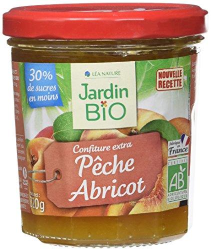 Jardin BiO étic Confiture extra Pêche Abricot