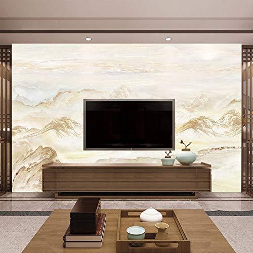 TV Achtergrond Wall_Nieuwe Chinese TV Achtergrond Muur Papier 3D Stereo Thuis Behang Europese Sfeer Muur Slaapkamer Decoratie Behang Grijs Muursticker Border Zelfklevende Baksteen badjas (W)430cm×(h)300cm