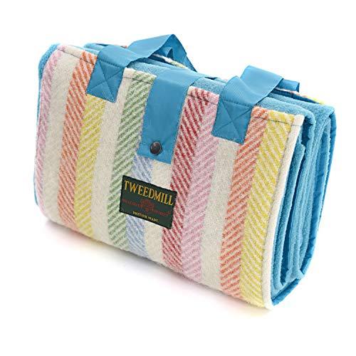Tweedmill Freizeit-Picknickdecke, Regenbogenstreifen
