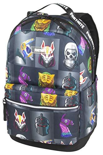 Fortnite Unisex-Erwachsene Multiplier Backpack Rucksack, Grau/Mehrfarbig, Einheitsgröße