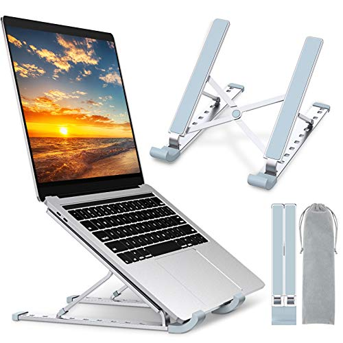 "Babacom Laptop Stand, Portable Laptop Cooling Desk Holder, 9-Levels Adjustable Notebook Riser Mount, Aluminum Ventilated Computer Stand, Compatible with MacBook Pro Air, iPad, Dell,10-15.6"" Laptops"
